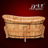 handmade solid wood bath tub for ladies bathing in bathroom
