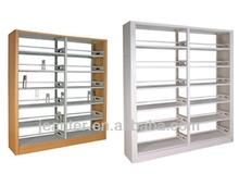 MDF Side Panel Steel Library Book Rack Shelving,Metal Bookshelf,Double/Single Childrens Book Shelf
