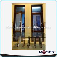 wood double glazed casement cabinet window door design for villa