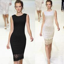 Ladies designed elegant tunic lace crochet bodycon shift plus size designer one piece party dress SV001577