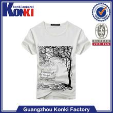 put your own logo printing white 120 grams cotton shirt