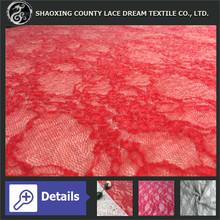 2014 poliéster / algodão / 100% acrílico vestido da menina flor amostras de tecido de renda para vestidos