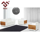 Wooden Cover White Modern Sofa
