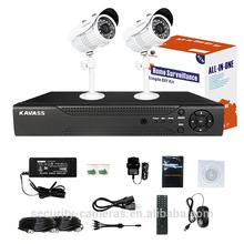 KAVASS 4CH DVR HD Sony Sensor 1100TVL CCTV Security Camera video surveillance system with Cable Power Adaptor(CLG-2C1100B)