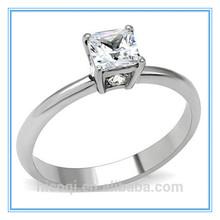 in acciaio inox taglio princess 1 carati di diamanti anello di fidanzamento