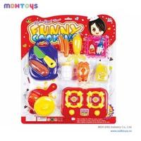 Promotion funny mini plastic kids toys pretend play kitchen toy set