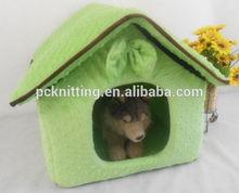 MOQ:100pcs 50*40*45CM Plush Pet House Dog House Pet Kennel