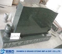 Wholesale cheap black natural stone granite tombstone