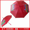 Red polyester auto open straight golf umbrella, straight golf umbrella, funny golf umbrella