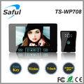 Saful ts-wp708 7 zoll tft lcd-display drahtlose video-türsprechanlage/Video gegensprechanlage 4 Wohnung
