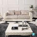 Mode und Luxus Wohnzimmer teakholz und stoff gemütlichen sofa