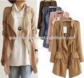 Défilé de mode 2014 nouveau modèle hiver,/automne occasionnels femmes européennes à cordonnet millésime bohème, copain blazer. veste manteaux cardigan