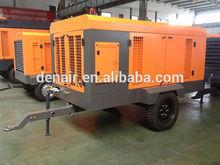 300cfm diesel engine powered portable air compressor