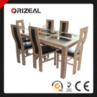 Solid Wood Dining Table and Chairs OZ-SW-219