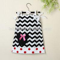 Mini mouse cotton chevron pillowcase dress for baby girls