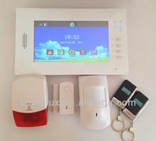 Visualized Operation Platform LCD Wireless GSM Alarm 868MHz Wireless Security Systems
