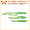 3 pieces plastic handle non-stick coated colorful kitchen knife set