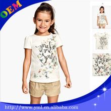 Animal printed 3d t-shirt,girls casual wear,girls kids wear