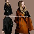 moda mostrar modelo europeu das senhoras tecido tecido de lã para o inverno casaco breasted dobro jaqueta outwear chinês fábrica de vestuário