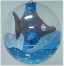 clear inflatable beach ball with toy inside,fish inflatable beach balls