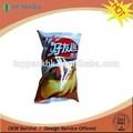 Impresos personalizados material de calidad alimentaria de plástico bolsa de bolsa de papel de aluminio de papas fritas bolsas/crujiente bolsa de embalaje