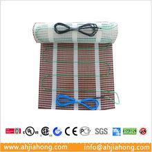 Single connection heating elements for tile slab brick floor