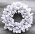 sj 2014 ct005 corona de navidad artificiales corona de flores para el día de navidad la decoración de interior blanco decorativo de navidad coronas de flores