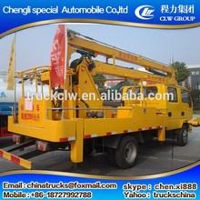 Branded hot sale 4x2 telescopic aerial platform truck