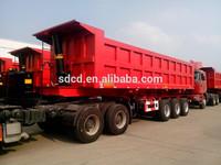60 ton 3 axle rear dump truck trailer,single axle dump trailer