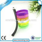 100% Full Capacity bracelet usb wristband usb flash memory stick with Customize logo