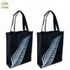 Silk screen print black non woven bag