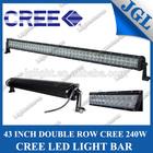 Super power led light bar , 20''/30''/40''/50'' cree double row led light bar ,off road led light bar cree with cover