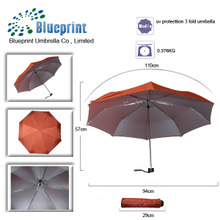 "21""8K manual open 3 fold uv anti uv resistance umbrella"