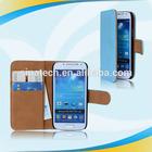 Surper quality slim leather mobile case for s4 mini i9190 auto sleep/awake
