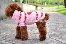 Cute pink paw knitting Pet sweaters