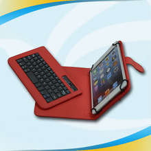 factory wholesale wireless bluetooth keyboard + leather cover case for ipad mini