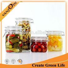 Square Clip Top Storage Preserving Jar
