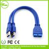 2 Port Internal USB 3.0 Motherboard Header Adapter Cable