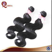 Black Short Body Wave human hair Clip Pony Tail