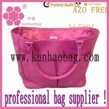girls love pink velvet tote bag