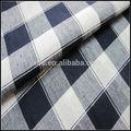 hilado teñido de tejidos de algodón azul de tela de lino