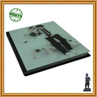 Lovers' wedding photo album printing / glass cover with top finishing