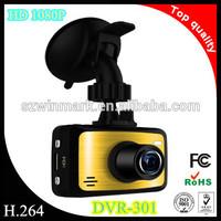 DVR-301 HD video car camera recorder, car black box g-sensor full hd1080p car dvr