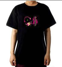 2014world cup el sound sensor t-shirt,led light t-shirt,el
