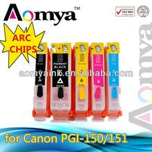 Compatible inkjet cartridge PGI150 ,CLI151 Ink Cartridge for Canon PIXMA MX921/ IP7210/ MG5410/ MG6310 printer