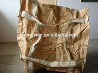 PP jumbo bag with double cruciform belt crossing the bottom
