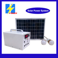 For remote area 10W solar power system With LED display for home lights 12V