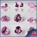 2#pink coração cor, forma corundum jóias tipos de pedra
