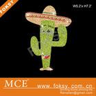 Custom cactus rhinestone glitter designs
