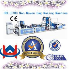 High speed low price auto non woven bag machine full non-woven fabric box bag making machine
